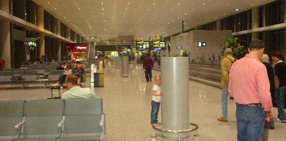 Inside Madrid airport