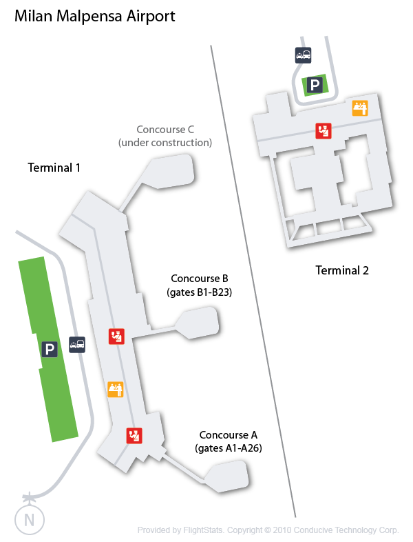 Malpensa Airport map